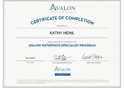Avalon Certificate Specialist