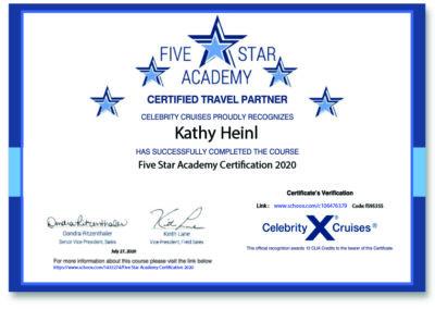 Celebrity Cruises Certificate