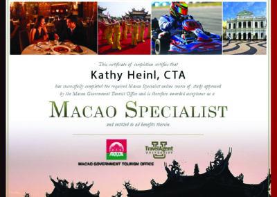 Macao Certificate