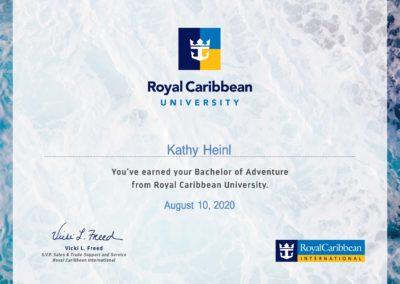 Royal Caribbean Certificate