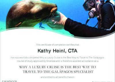 Silversea Galapagos Certificate