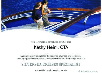Siversea Cruises Specialist Certificate